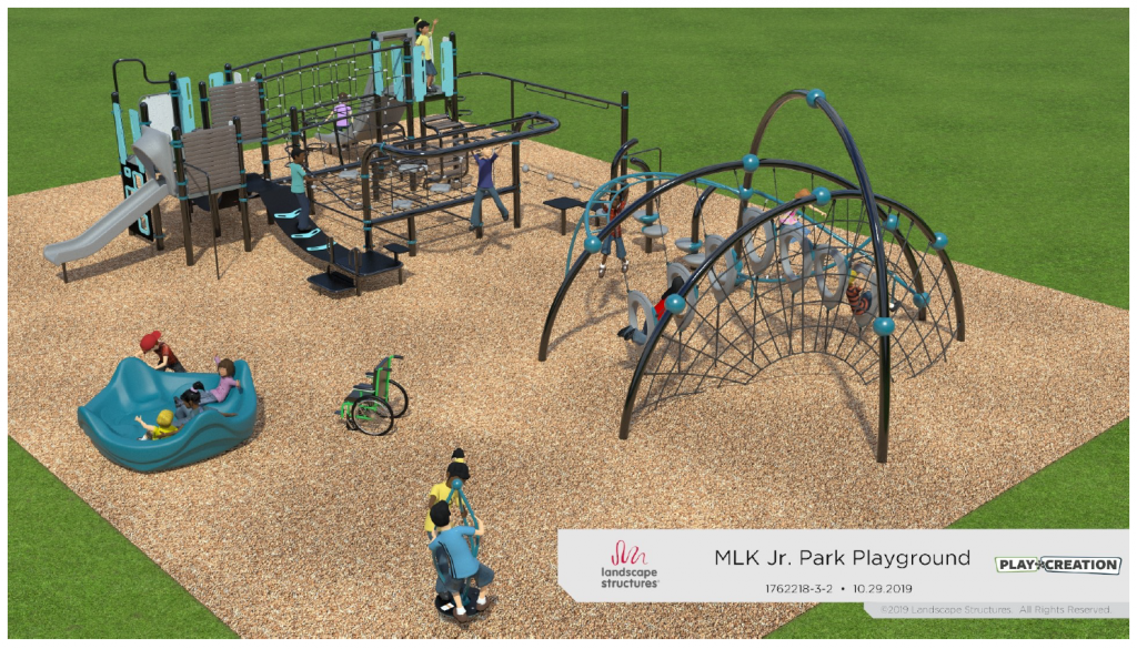 Artist rendering of new playground at Martin Luther King Jr. Park