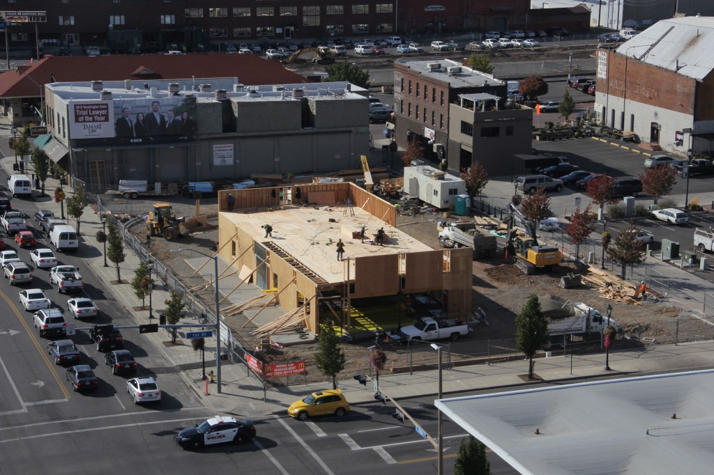 Construction of a new McDonald's takes shape at the intersection of 1st Street & Yakima Avenue.