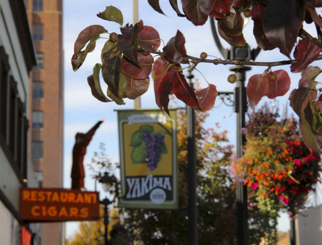 Yakima is a showcase of colors this time of year with fall foliage and flower baskets painting Yakima's main thoroughfare.