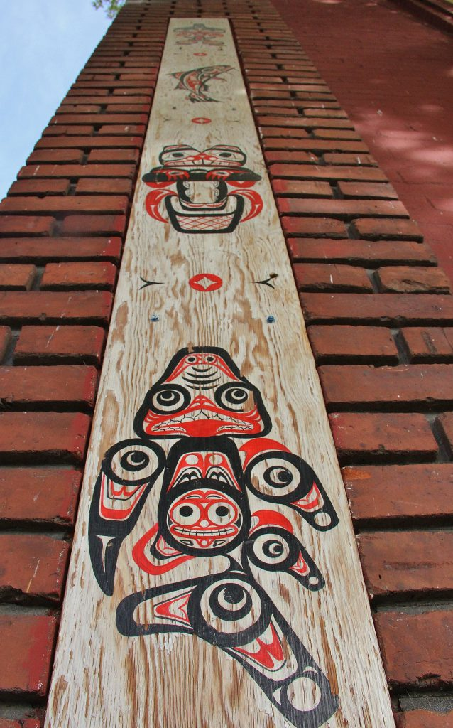 Northwest Native American Art displayed the walls of Churchill's Books on South Second Street fits the theme for the newly designated Indigenous People's Day in Yakima on Monday, October 10th.