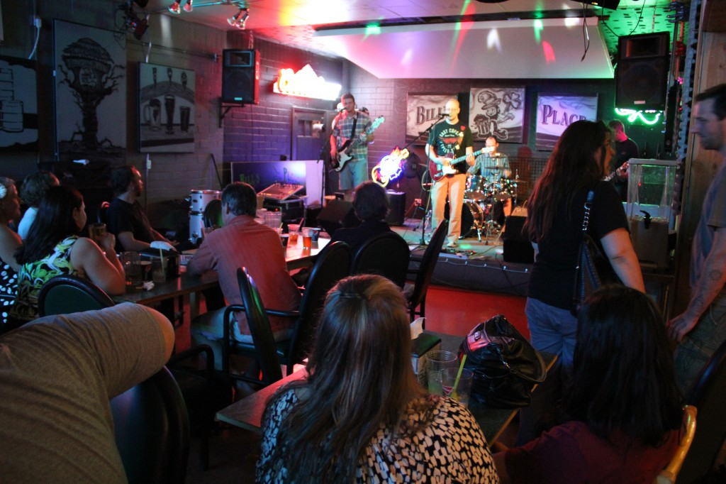 Yakima band Argus plays for a supportive crowd at Bill's Place, a favorite local music venue.