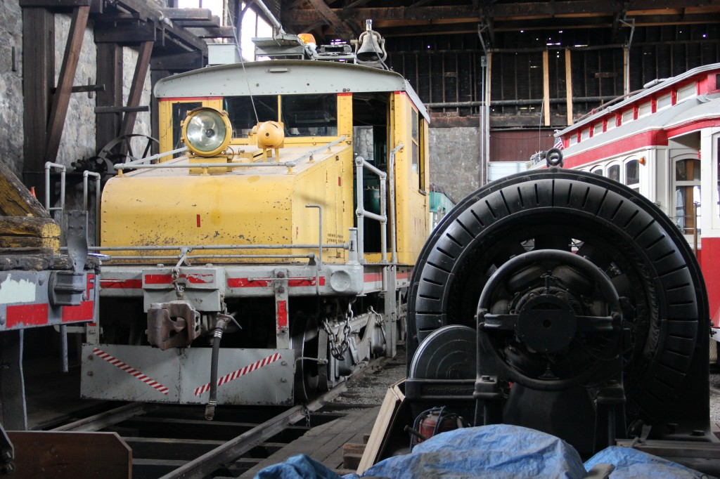 The old 248 electric locomotive sits in the car barn at the Electric Railway Museum with the huge generator that used to power it as the Yakima Trolleys gear up for another summer run on Yakima's historic electric railway.