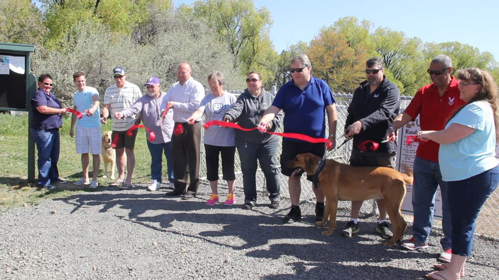 Dogs and dignitaries were on hand (and paw) for the ribbon cutting ceremony officially opening Yakima's newest dog park just off 48th Avenue south of Randall Park.