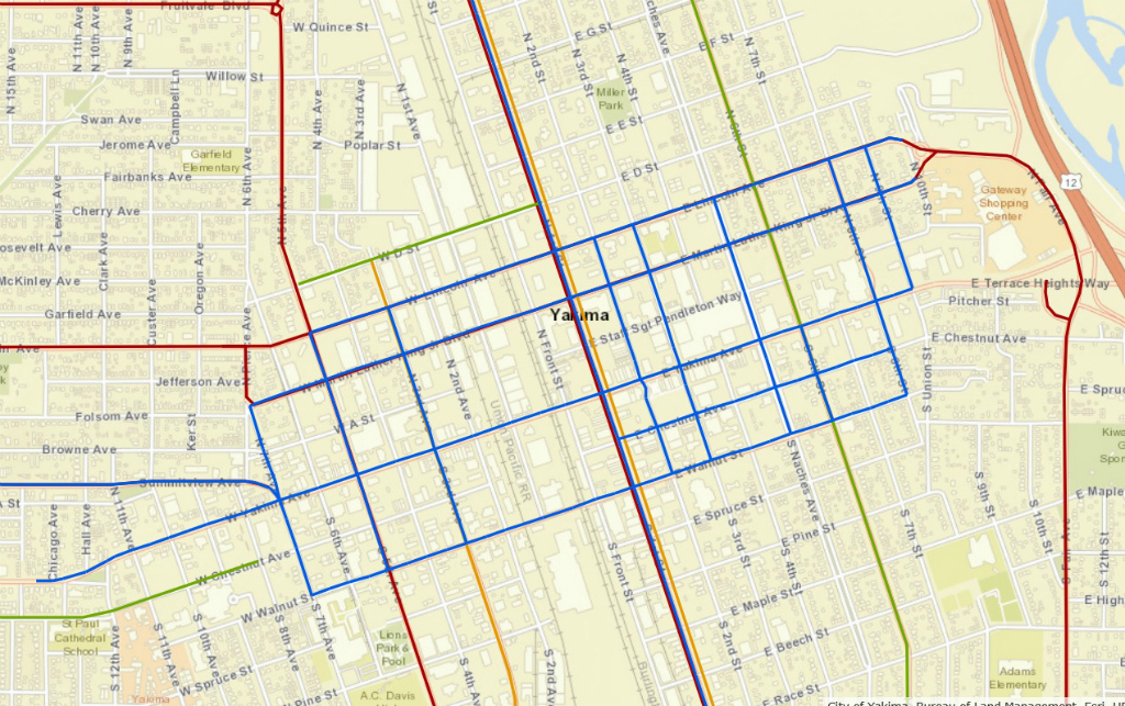 Map of the Month City of Yakima Snow Routes Points of Interest