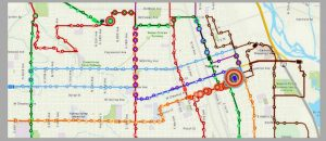 Map of the Month - Yakima Transit routes