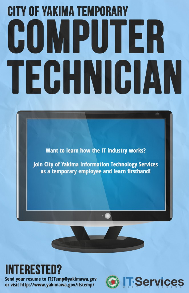 Temporary Computer Technician Information Technology