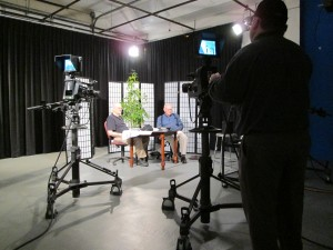 Community producers prepare to record a local television production at the YCTV facilities.